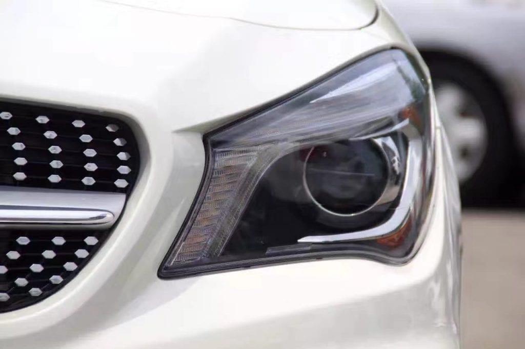买车首付比例 2014 cla250 amg套,白色米内饰,氙气大灯,蝴蝶尾灯,