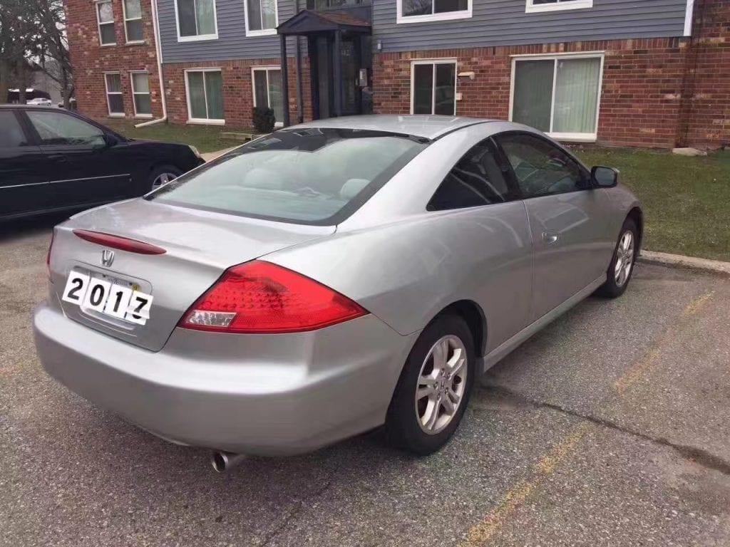 买车分期流程 2007 Honda Accord EX Coupe,里程仅75k,内外干净如新