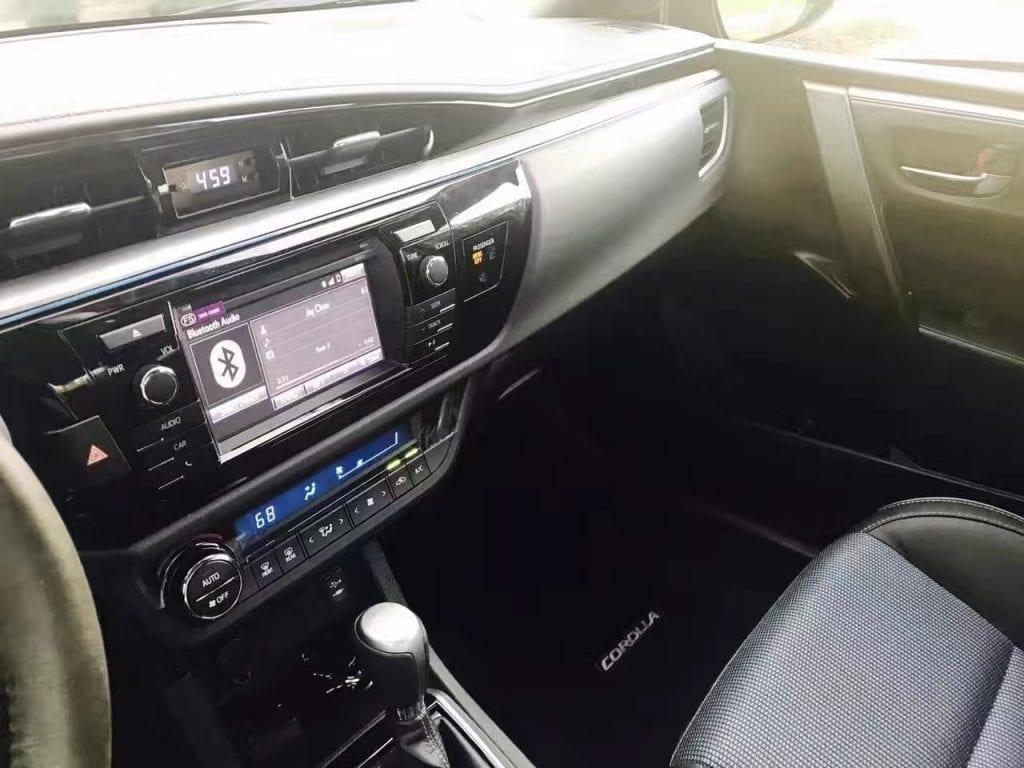 买车首付多少 2016 Toyota corolla S,跑了1000。 多少?1000。