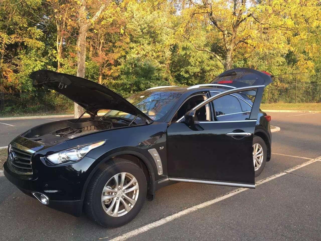 美国买车可以用信用卡吗 2015年 qx70 AWD 导航 倒车 加热座椅 小鲨鱼头